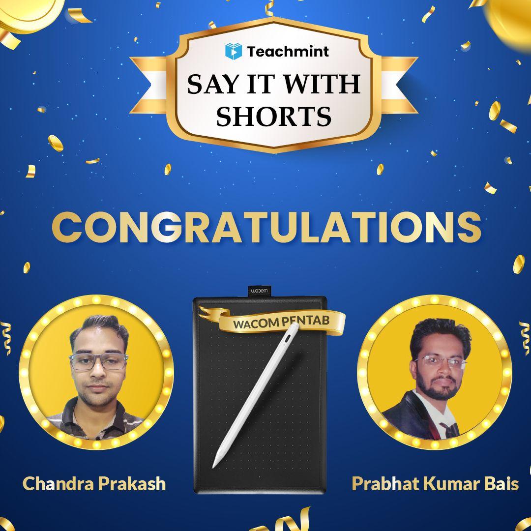 online contest; winners; Teachmint; online teaching; youtube shorts