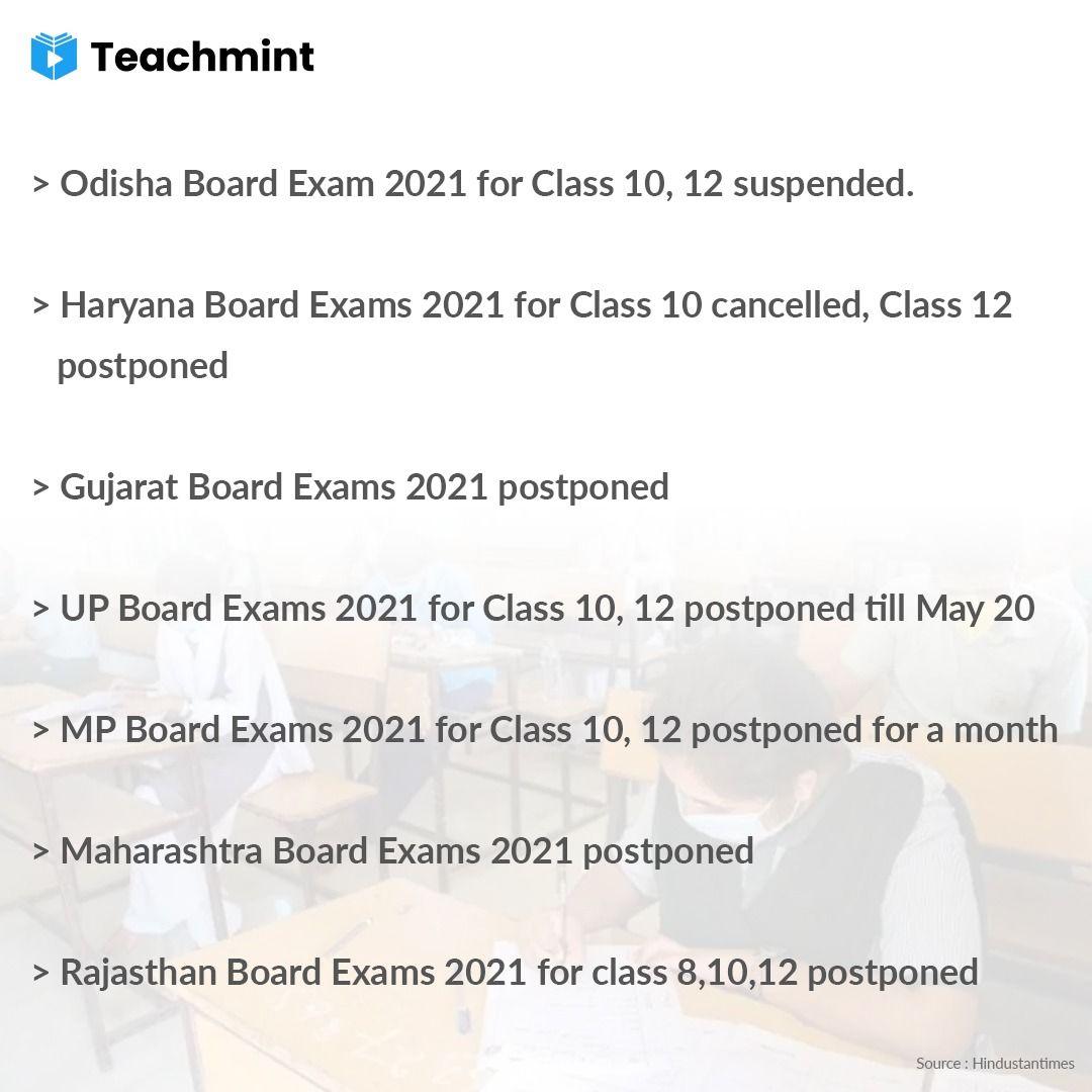Board Exams; CBSE; Exams: postponed exams