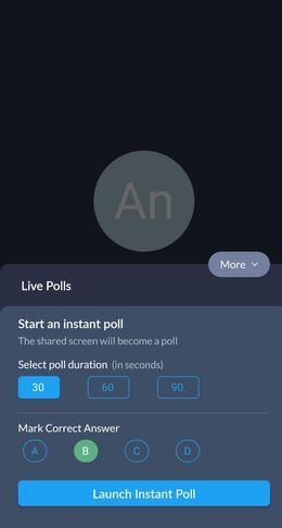 Instant polls and student engagement