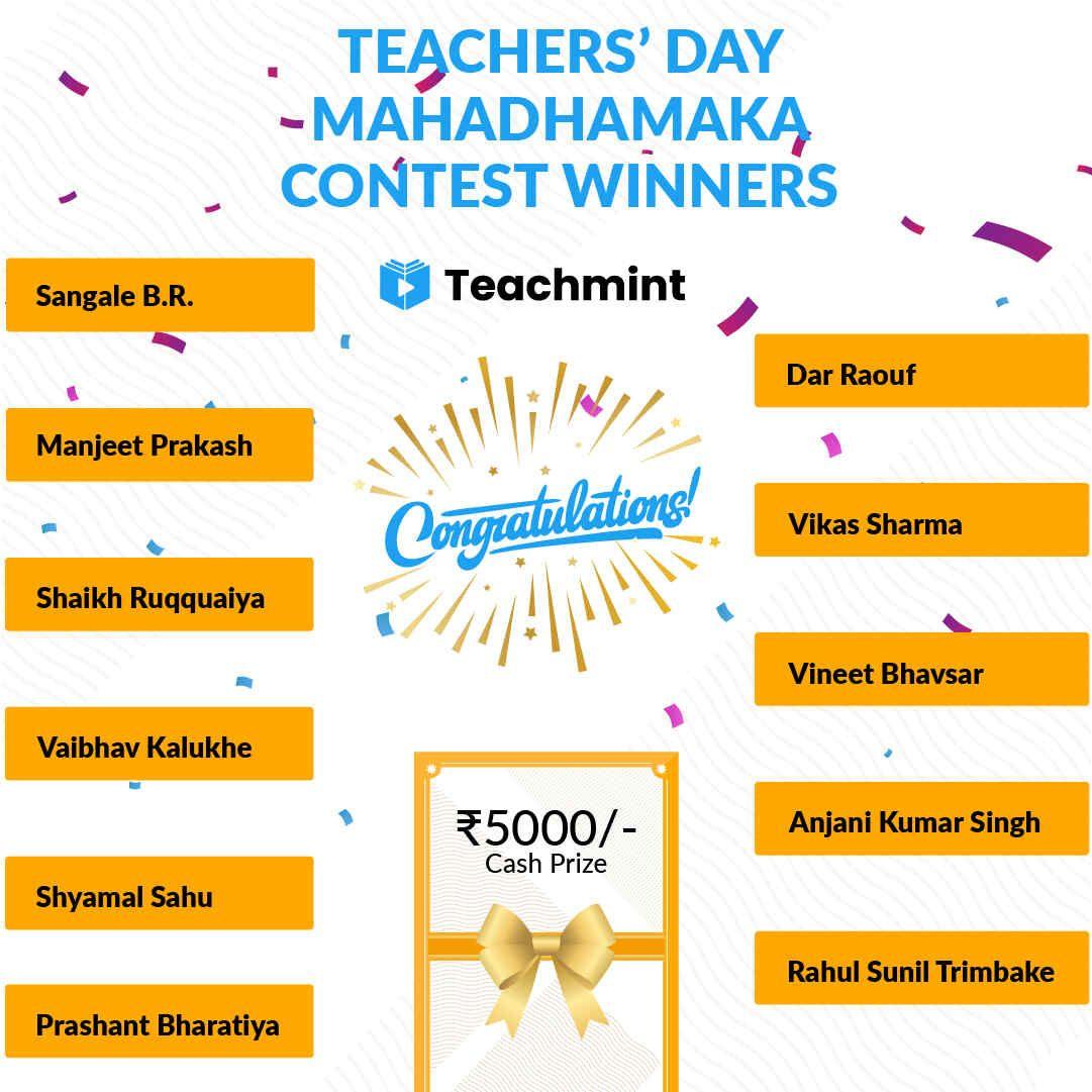 Mahadhamaka Contest Winners