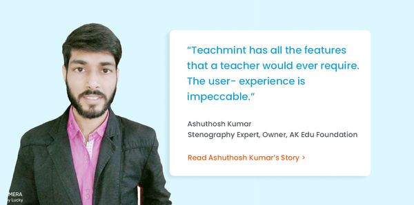 Typing His Way To Success with Teachmint
